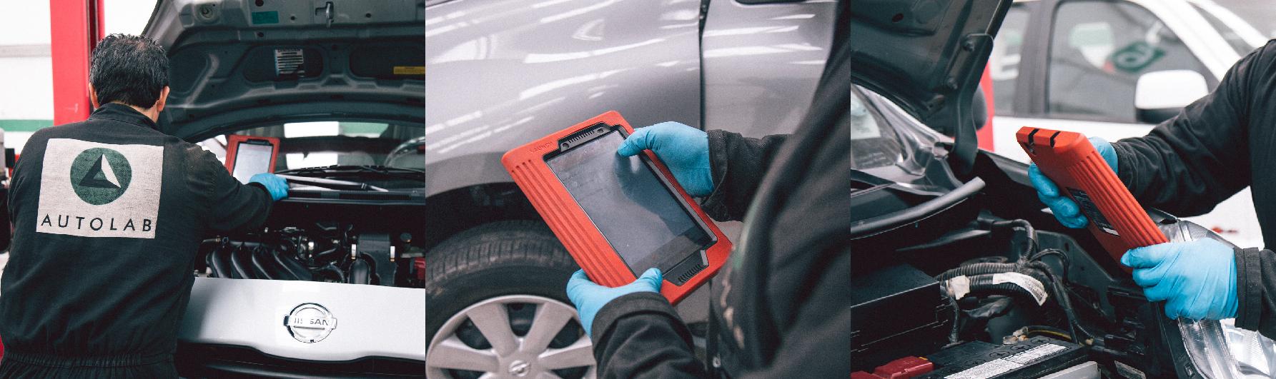 Inspección del sistema eléctrico y electrónico de un carro en un taller