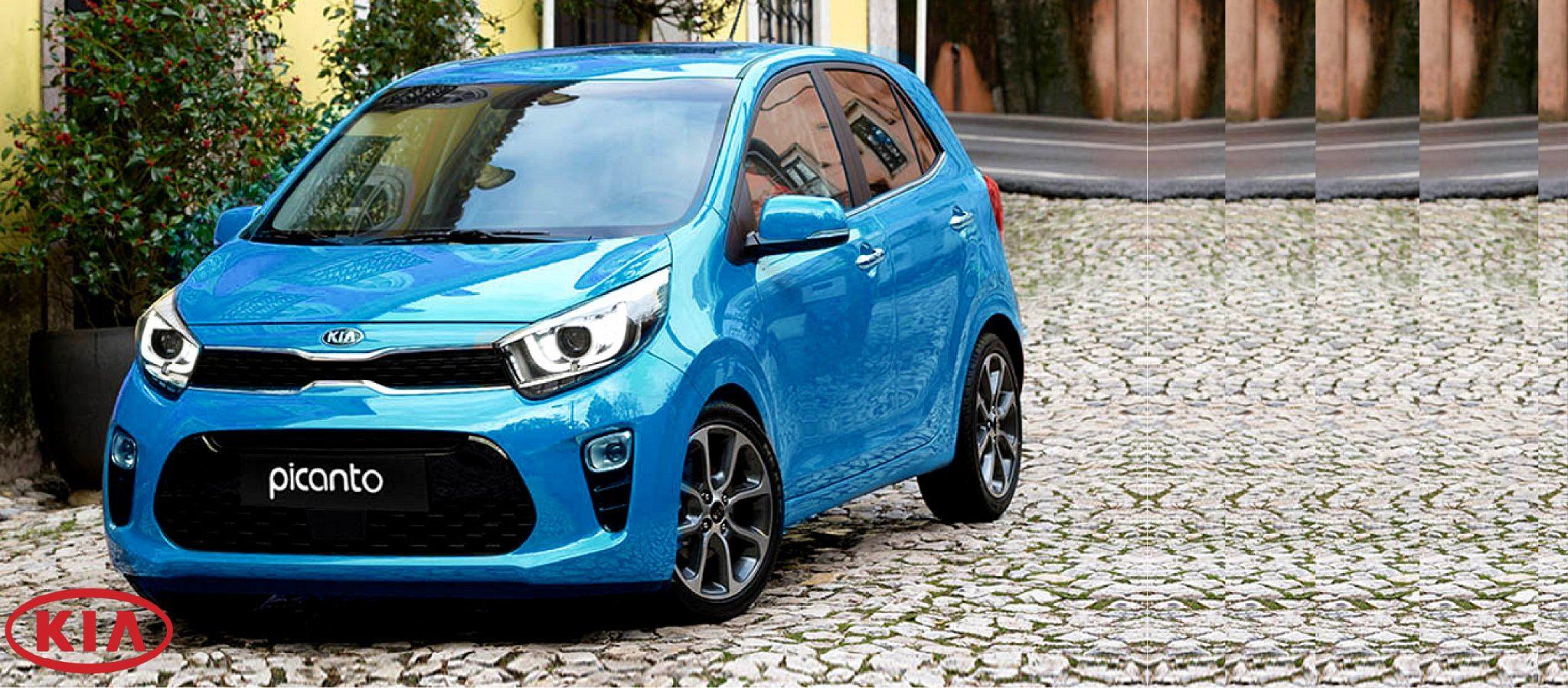 Un Kia Picanto azul