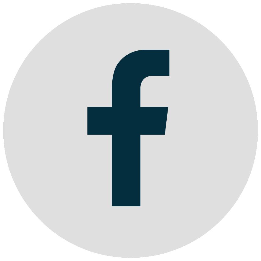 Logo Facebook gris