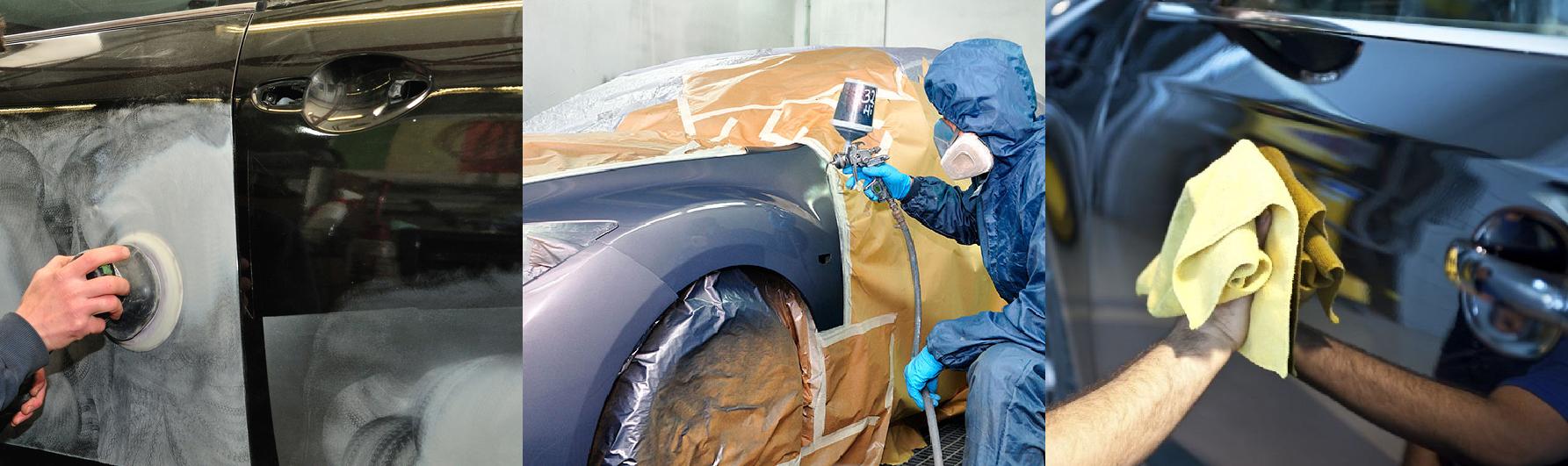Tres pasos para pintar un carro: lijar, pintar, pulir