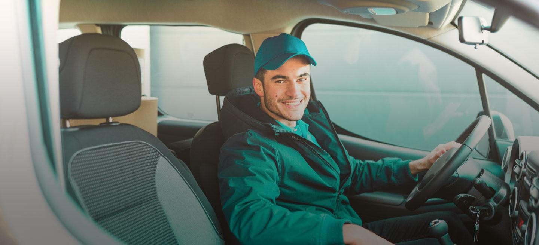 Conductor de Autolab en un carro